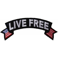 Live Free Flag Rocker Patch