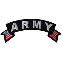 Army Small US Flag Rocker Patch