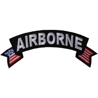 Airborne Small Flag Rocker Patch