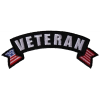 Veteran Upper Rocker with US Flag Small Patch