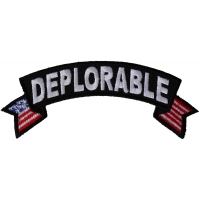 Deplorable Small Flag Rocker Patch