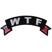 WTF Small Flag Rocker Patch