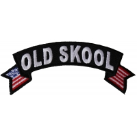 Old Skool Small Flag Rocker Patch