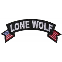 Lone Wolf Small Flag Rocker Patch
