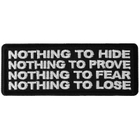 Nothing to Hide Prove Fear Lose Patch