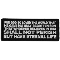 John 3 16 Quote Patch