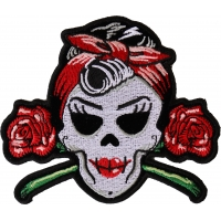 Rockabilly Lady Skull Patch