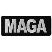 MAGA Black and White Patch