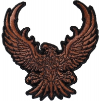 Brown Eagle Small Embroidered Iron on Patch
