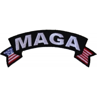 MAGA US Flag Rocker Patch