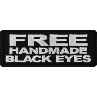 Free Handmade Black Eyes Patch