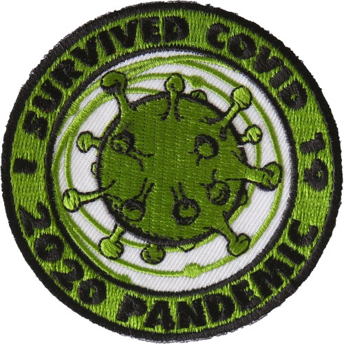 FK it round black badge Iron Sew on Embroidered Patch