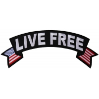 Live Free Large Flag Upper Rocker Patch