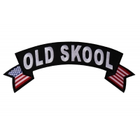Old Skool Large Flag Rocker Patch