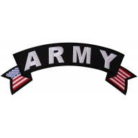 Army Large US Flag Rocker Patch