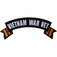 Vietnam War Vet Extra Large Rocker Patch