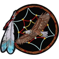 Feather Dreamcatcher Eagle Patch Medium | Embroidered Patches
