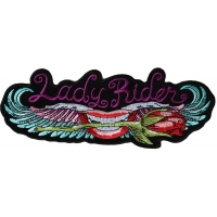Lips and Roses Lady Rider Large Back Patch