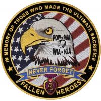 Fallen Heroes POW MIA WIA KIA Memorial Patch