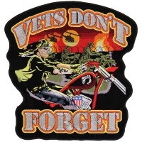 Vets Don't Forget Large Back Patch | US Military Veteran Patches