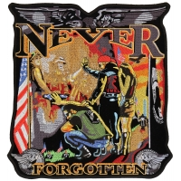 Never Forgotten The Wall Vietnam Patch Large Back Patch | US Military Vietnam Veteran Patches