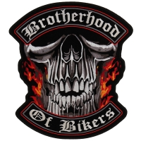 Brotherhood Of Bikers Large Vest Biker Patch | Embroidered Patches