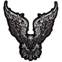 Eagle Monochrome Large Wings Patch Large | Embroidered Patches