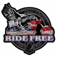Ride Free American Eagle Biker Vest Patch | US Military Veteran Patches