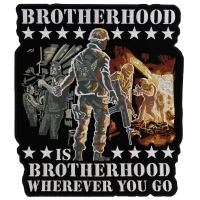 Brotherhood Biker Veteran Large Patch | US Military Veteran Patches