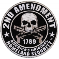 2nd Amendment 1789 Skull Patch Small | US Military Veteran Patches