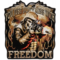 Don't Mess With Freedom Large Patch | US Military Veteran Patches