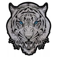 White Tiger Blue Eyes Patch | Embroidered Patches