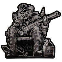 Shotgun Skeleton Moonshiner Large Patch | Embroidered Patches