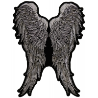 Black And White Angel Wings Of Feathers Patch | Embroidered Patches