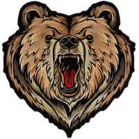 Grizzly Bear Large Back Patch