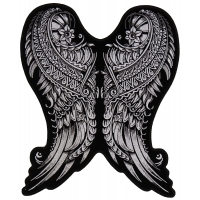 Angel Wings Large Back Patch Ornate Design