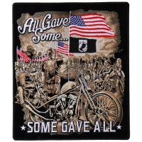 All Gave Some Gave All POW MIA Vet Biker Back Patch
