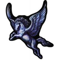 Pegasus Horse Blue Wings Back Patch