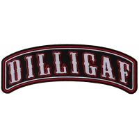 Large Dilligaf Rocker Patch | Embroidered Patches