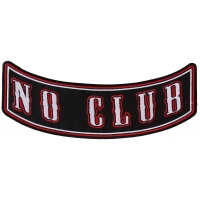 Large No Club Rocker Patch