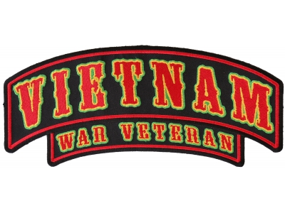 VIETNAM 1966  Embroidery Iron-On Patch  Biker Military Emblem Red Border