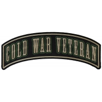 Cold War Veteran Large Rocker Patch | US Military Veteran Patches
