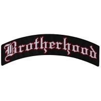 Large Brotherhood Top Rocker Vest Back Patch | Embroidered Patches
