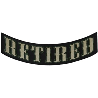 Retired Lower Rocker Patch | US Military Veteran Patches