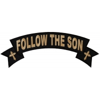 Follow The Son Large Rocker Patch | Embroidered Patches