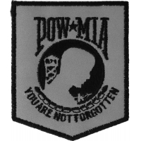 POW MIA Reflective Patch | US Military Veteran Patches