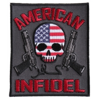 American Infidel Patch With Skull | US Military Veteran Patches