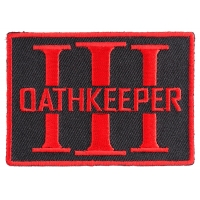 Oathkeeper Three  Percenter Red Patch | Embroidered Patches