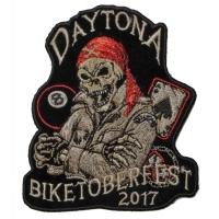 Biketoberfest 2017 Daytona Skull Biker Patch