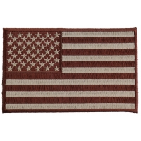 Brown Subdued American Flag Patch